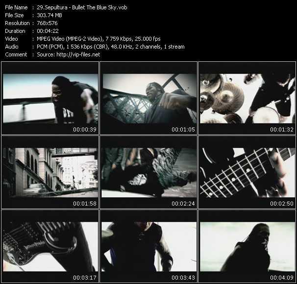 Sepultura - Bullet The Blue Sky