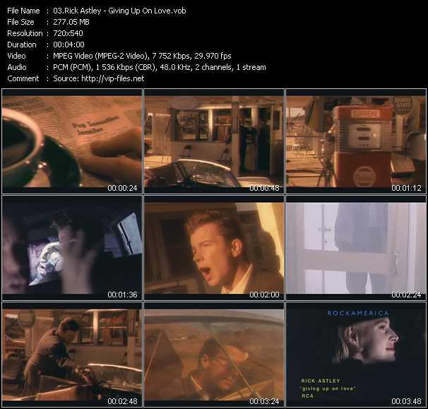 Rick Astley - Giving Up On Love