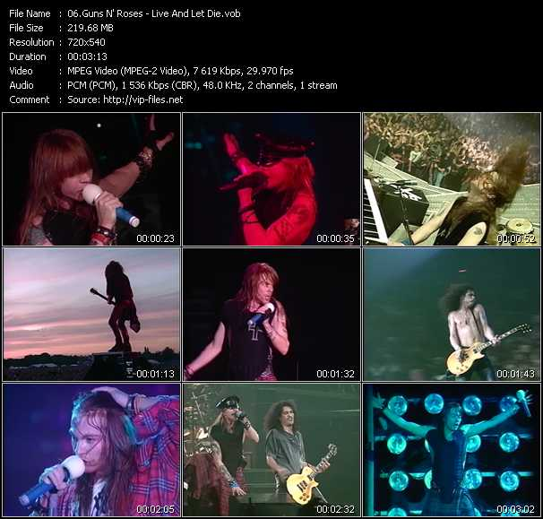 Guns N' Roses - Live And Let Die