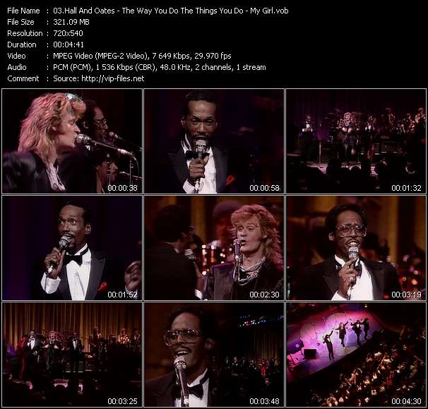 Hall And Oates (Daryl Hall And John Oates) With David Ruffin And Eddie Kendrick - The Way You Do The Things You Do - My Girl