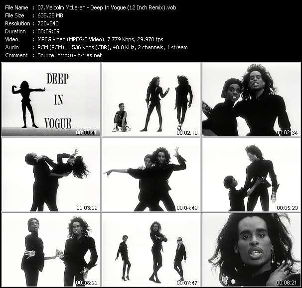 Malcolm McLaren - Deep In Vogue (12 Inch Remix)