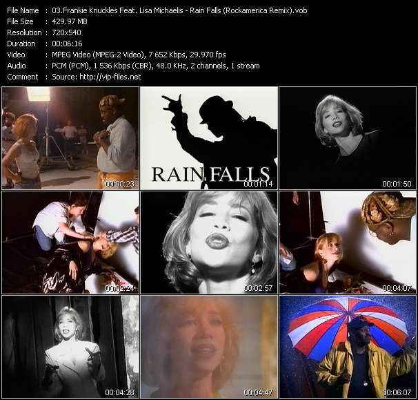 Frankie Knuckles Feat. Lisa Michaelis - Rain Falls (Rockamerica Remix)