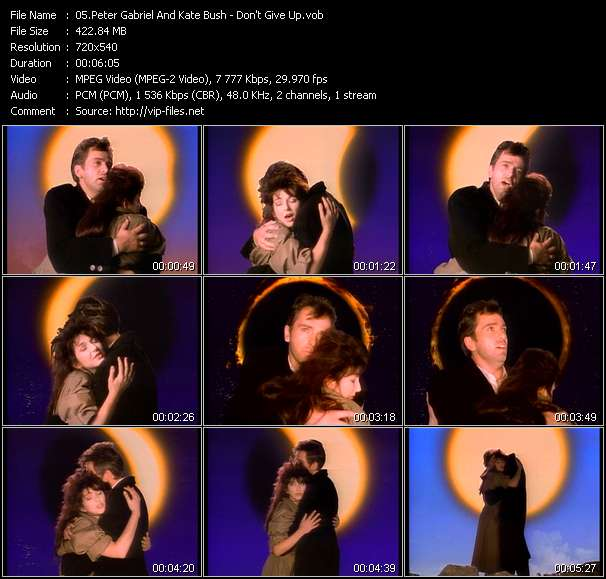 Peter Gabriel And Kate Bush - Don't Give Up