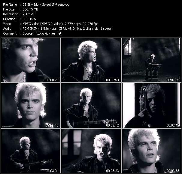 screenschot of Billy Idol video