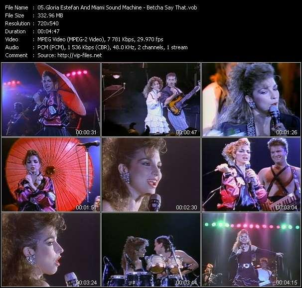 Gloria Estefan And Miami Sound Machine - Betcha Say That