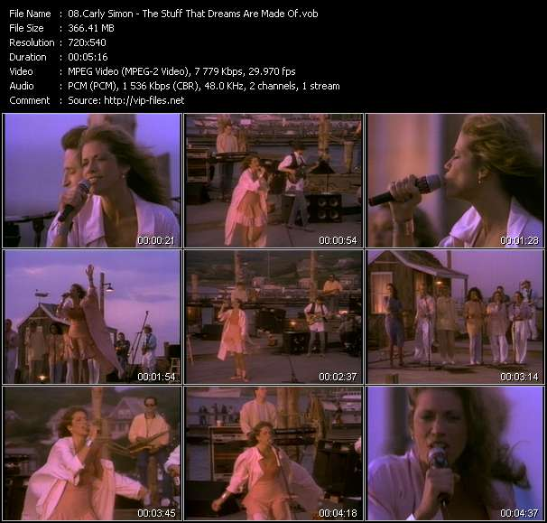 screenschot of Carly Simon video