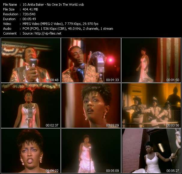screenschot of Anita Baker video