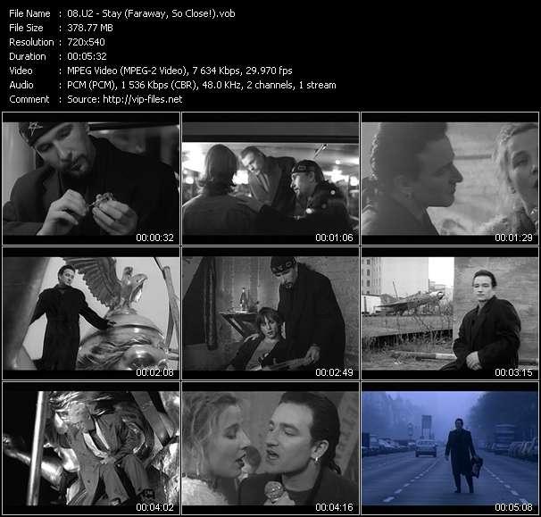 U2 - Stay (Faraway, So Close!)