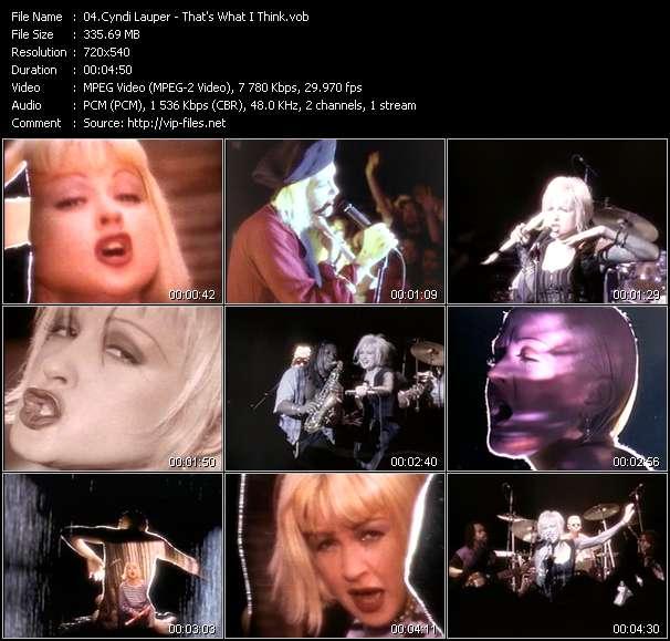Cyndi Lauper - That's What I Think