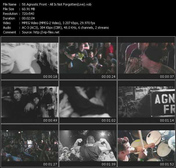 Agnostic Front - All Is Not Forgotten (Live)