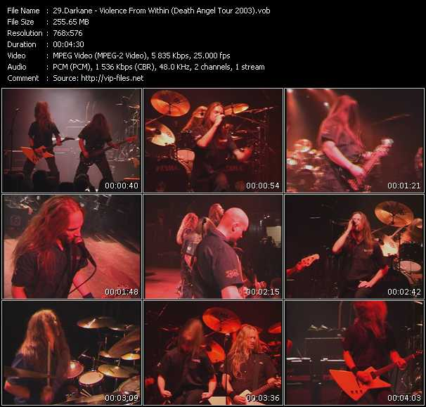 Darkane - Violence From Within (Death Angel Tour 2003)