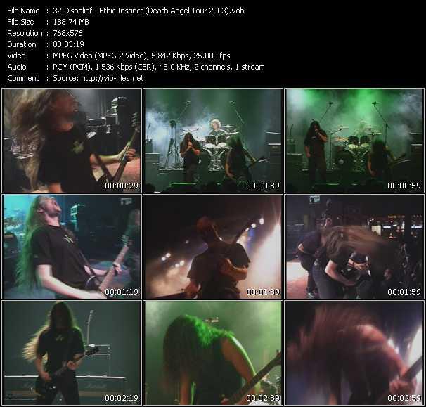 Disbelief - Ethic Instinct (Death Angel Tour 2003)