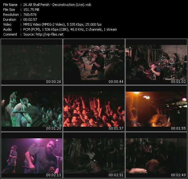 All Shall Perish - Deconstruction (Live)