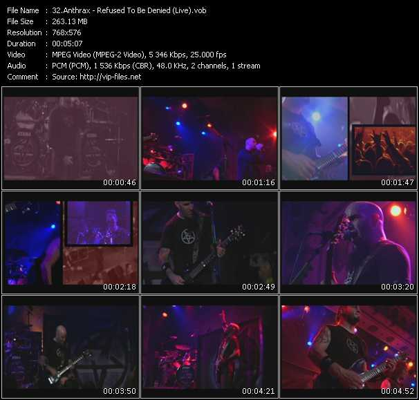 Anthrax - Refused To Be Denied (Live)