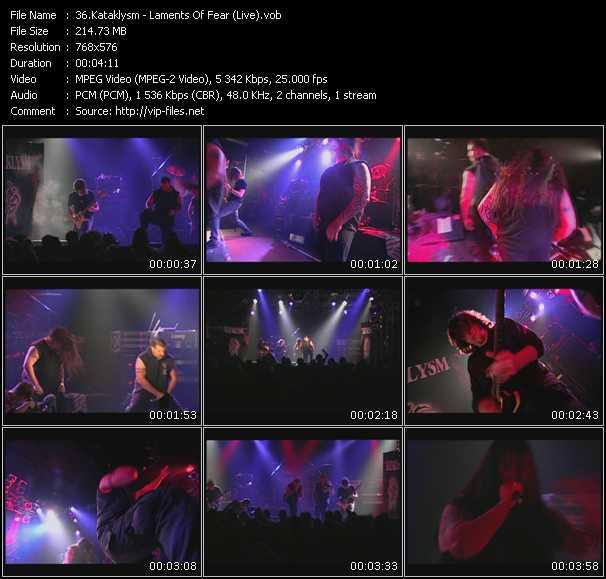 Kataklysm - Laments Of Fear (Live)