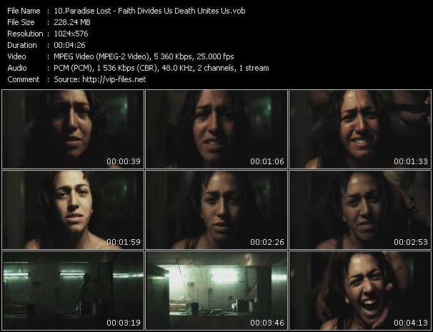 screenschot of Paradise Lost video