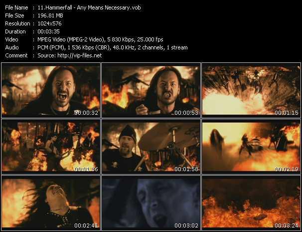 screenschot of Hammerfall video