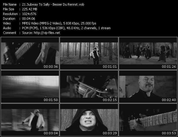 screenschot of Subway To Sally video