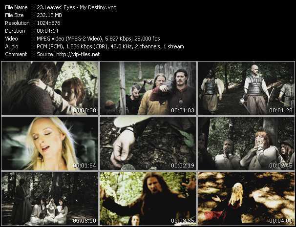 screenschot of Leaves' Eyes video