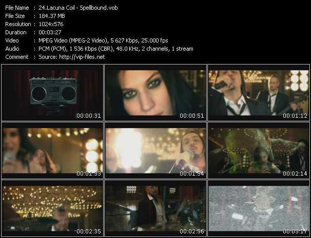 screenschot of Lacuna Coil video