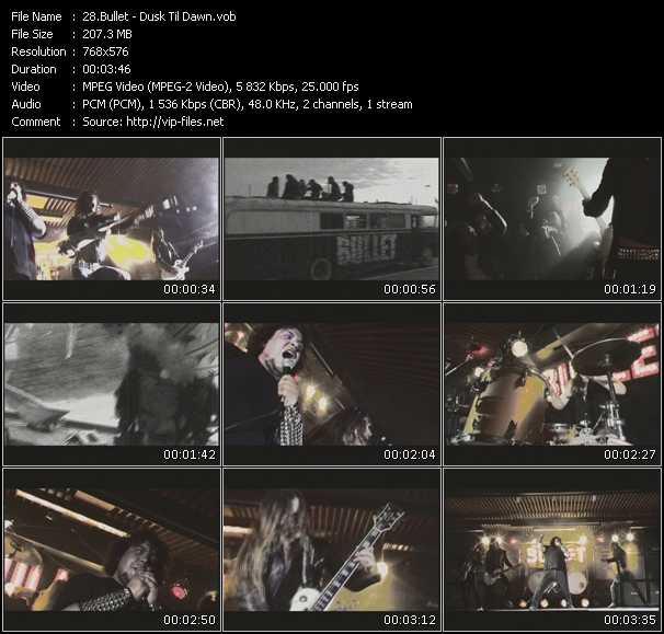 screenschot of Bullet video