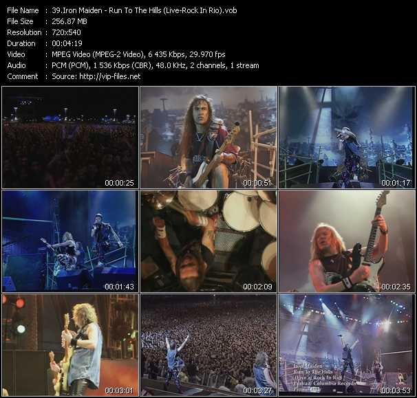 Iron Maiden - Run To The Hills (Live At Rock In Rio)