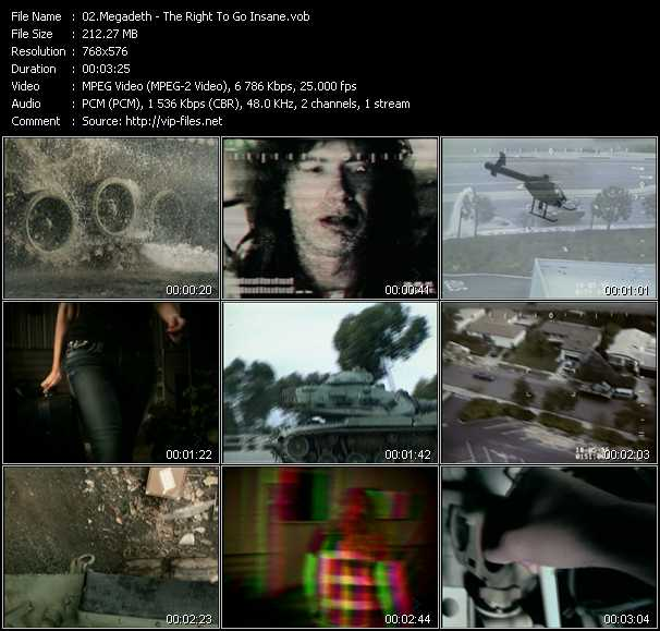 Megadeth - The Right To Go Insane